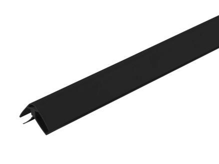 Dumaplast profil d'angle 260cm PVC noir