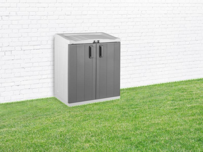 Practo Garden rangement extérieur cache poubelle 90x54x102 cm avec supports gris