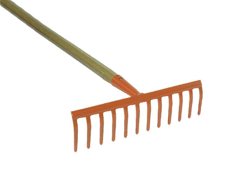 AVR râteau de jardin 31cm 12 dents + manche 150cm