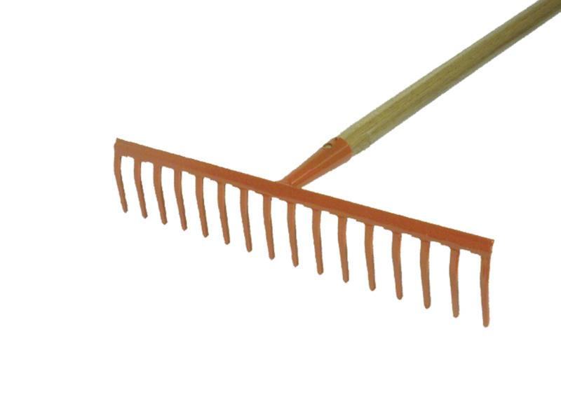 AVR râteau de jardin 40,5cm 16 dents + manche 130cm