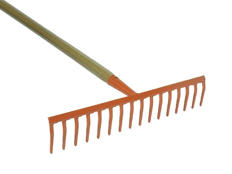 AVR râteau de jardin 41,5cm 16 dents + manche 150cm