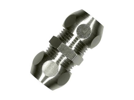 Saninstal rechte koppeling 10x10 mm chroom