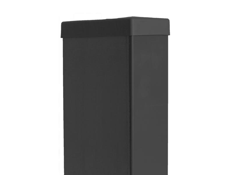 Giardino rechthoekige paal 60x120 mm 240cm zwart
