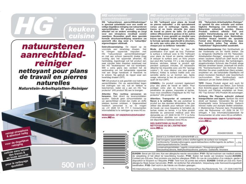 HG reiniger aanrechtblad natuursteen 500ml