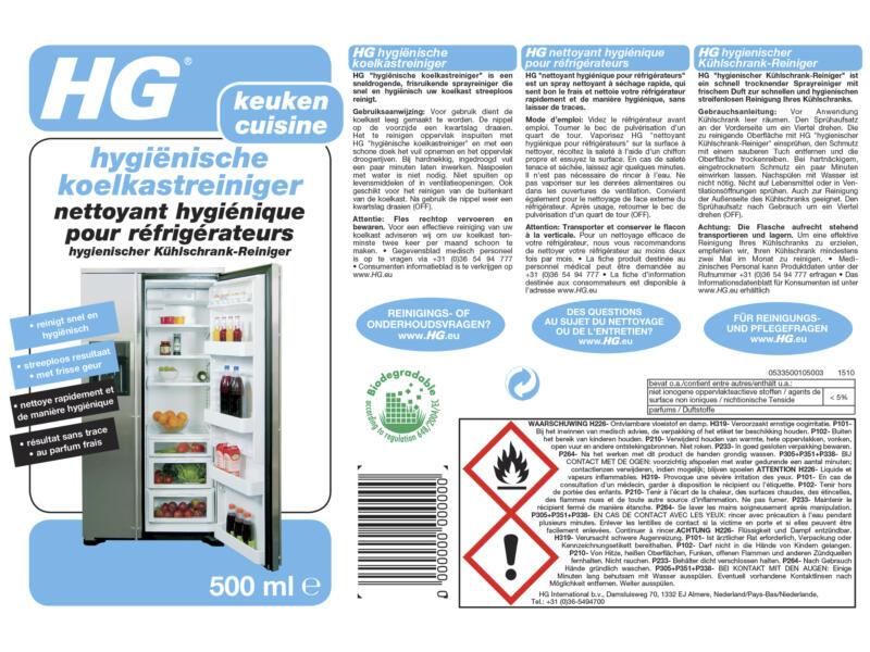HG reiniger koelkast hygiënisch