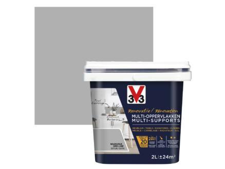 V33 renovatieverf multi-oppervlak zijdeglans 2l maangrijs