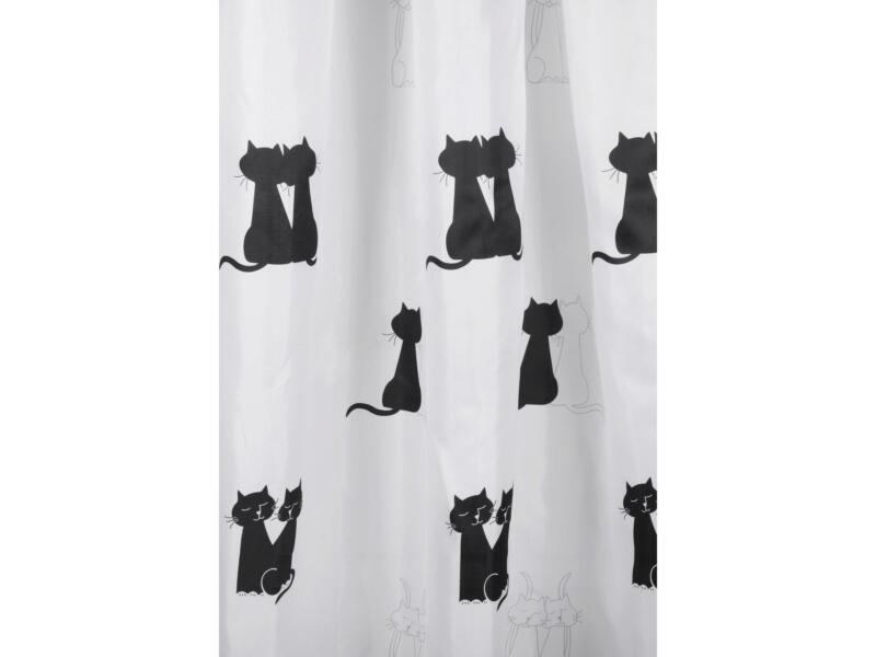 Differnz rideau de douche 180x200 cm chats