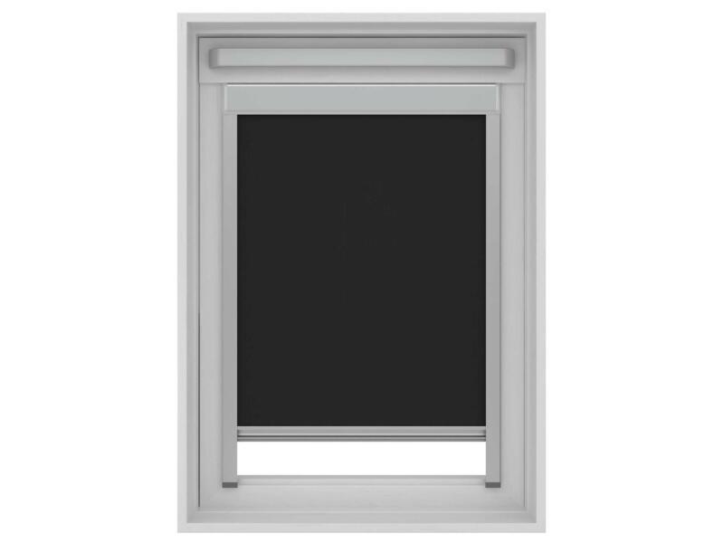 Decosol rolgordijn verduisterend dakraam 134x140 cm zwart