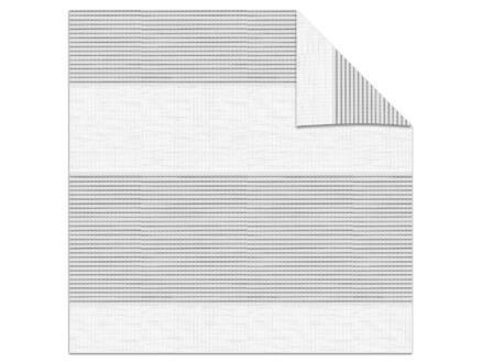 Decosol roljaloezie lichtdoorlatend 90x190 cm structuur wit-grijs