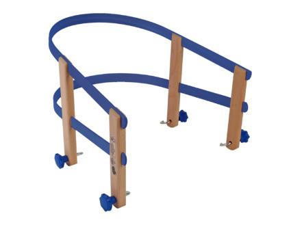 AVR rugsteun slede hout/PVC