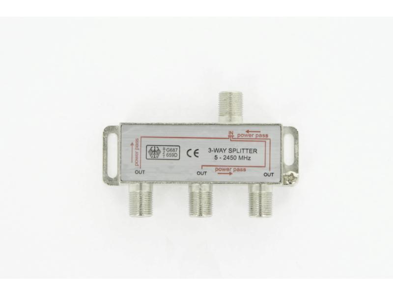 Profile satelliet splitter 3-weg 5-2450 MHz