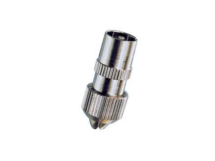 satelliet/TV connector M metaal 2 stuks