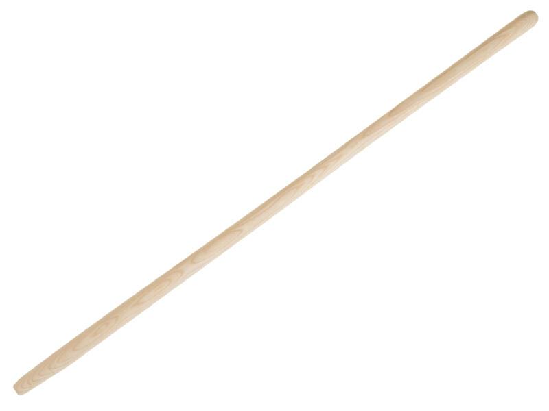 Polet schopsteel 130cm gebogen hout
