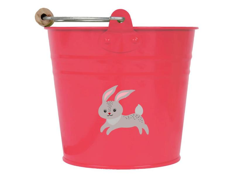 AVR seau enfants 0,75l lapin rouge