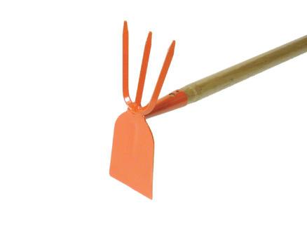 AVR serfouette 8cm 3 dents + manche orange