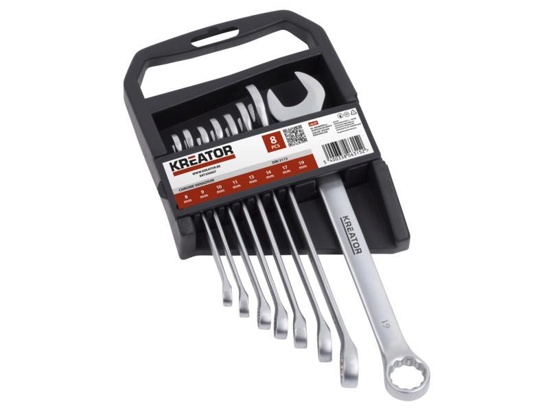 Kreator set de clés 8-19 mm 8 pièces