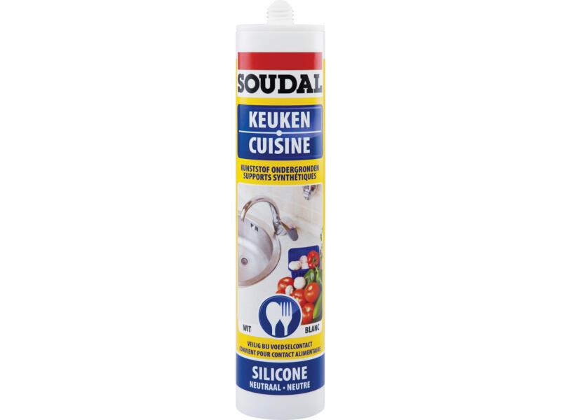 Soudal siliconenkit keuken food safe 300ml wit