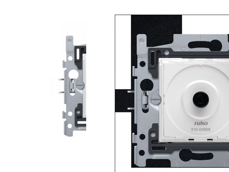 Niko socle pour variateur LED à bouton rotatif 200W