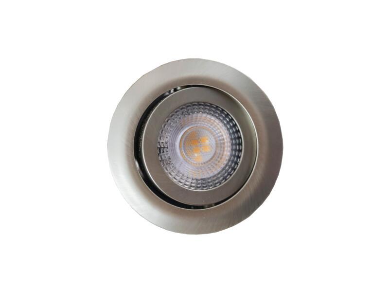 Prolight spot LED encastrable 5W dimmable nickel 3 pièces
