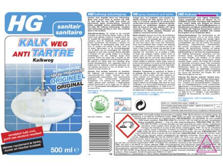 HG spray antitartre 0,5l