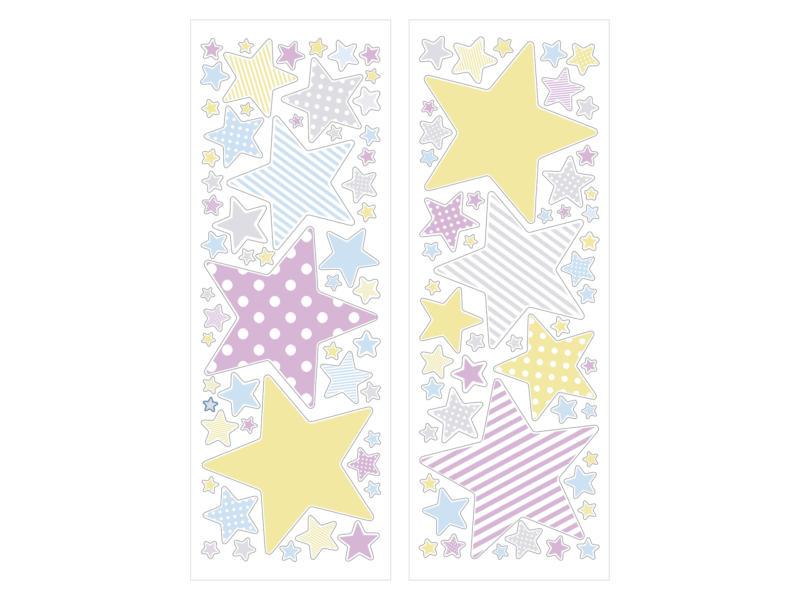 Art for the Home stickers muraux étoiles couleurs pastel