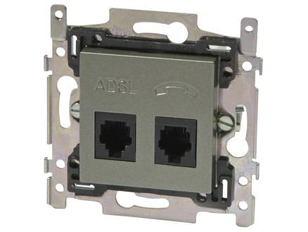Niko stopcontact ADSL + TEL Intense bronze