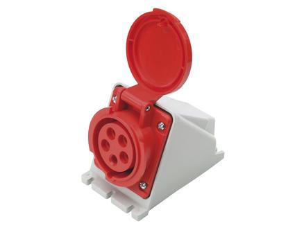 Profile stopcontact CEE 32A 5-polig rood