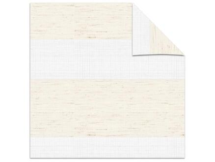 Decosol store enrouleur vénitien tamisant 180x210 cm structure lin blanc