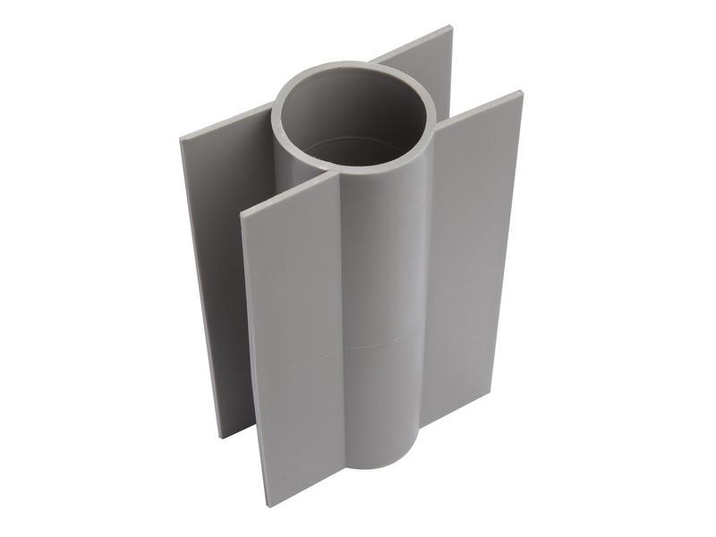 Giardino support plaque de béton poteau rond 28cm 48mm