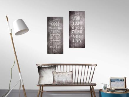 Art for the Home tableau imprimé sur bois 30x70 cm good things