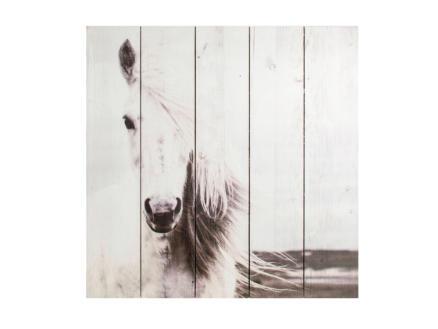 Art for the Home tableau imprimé sur bois 50x50 cm cheval