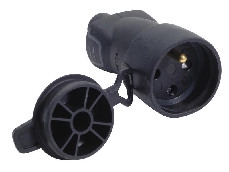 Legrand tegenstekker 16A met dop rubber zwart