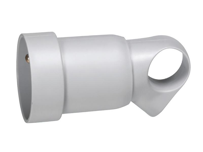 Legrand tegenstekker met oog 16A grijs