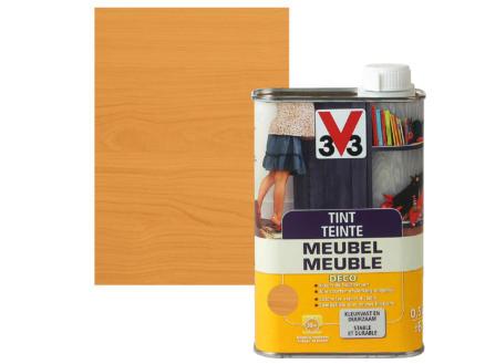 V33 teinte meuble déco mat 0,5l chêne moyen