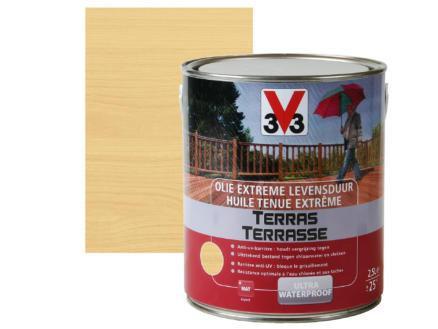 V33 terrasolie extreme levensduur mat 2,5l kleurloos