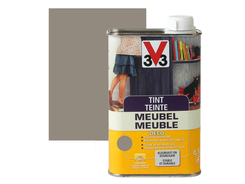 V33 tint meubel deco mat 0,5l gerookt grijs