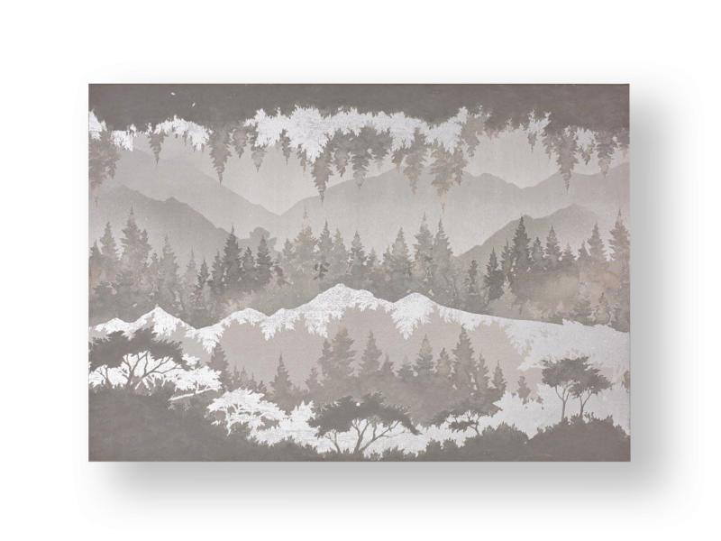Art for the Home toile imprimée 100x70 cm paysage gris