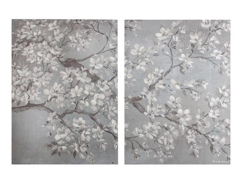 Art for the Home toile imprimée 120x80 cm orchidée gris 2 panneaux