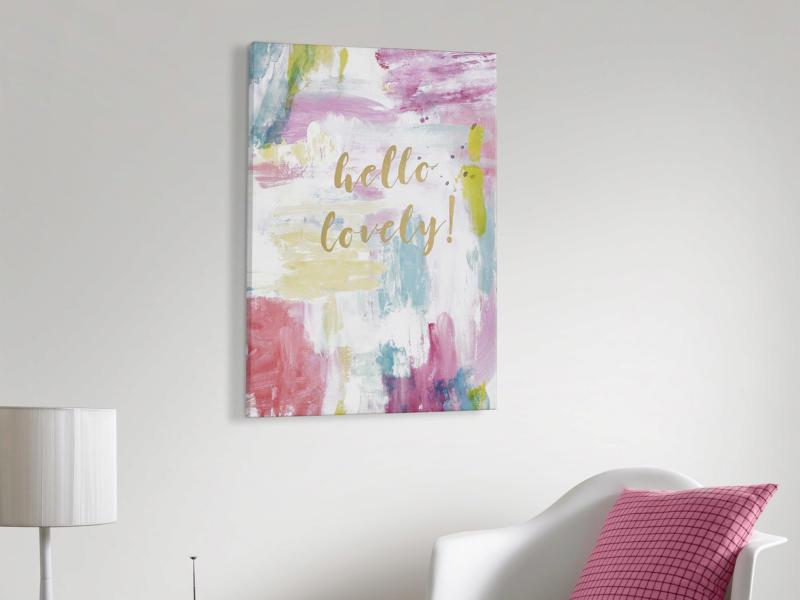 Art for the Home toile imprimée 50x70 cm hello lovely