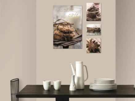 Art for the Home toile imprimée 60x60 cm biscuits 4 panneaux