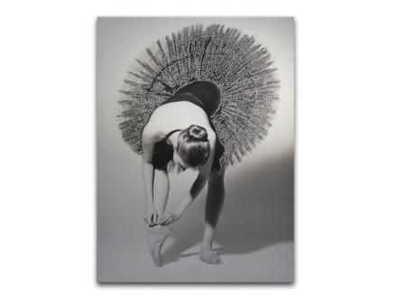 Art for the Home toile imprimée 60x80 cm ballerine paillettes