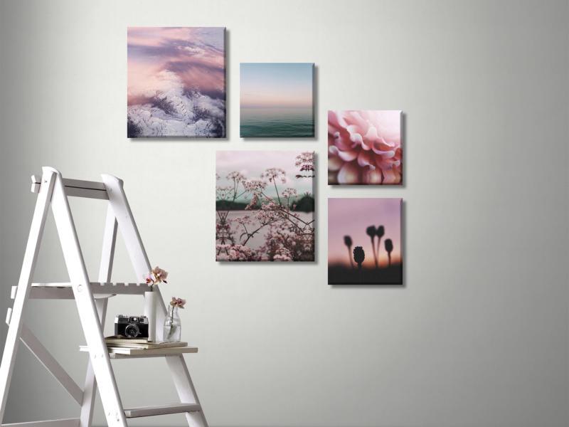 Art for the Home toile imprimée 60x80 cm silence rose 5 panneaux