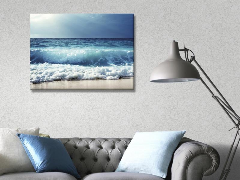 Art for the Home toile imprimée 70x50 cm vague