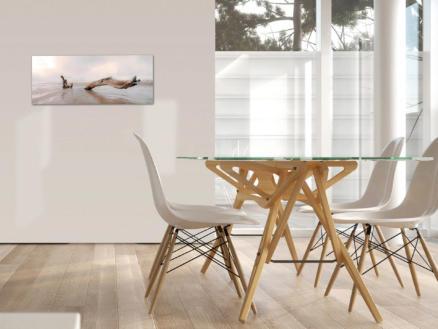 Art for the Home toile panoramique 100x40 cm bois flottant