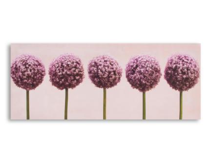 Art for the Home toile panoramique 100x40 cm fleurs d'allium violet