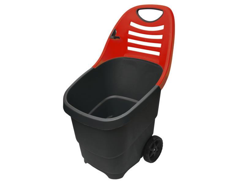 AVR trolley de jardin 65l noir