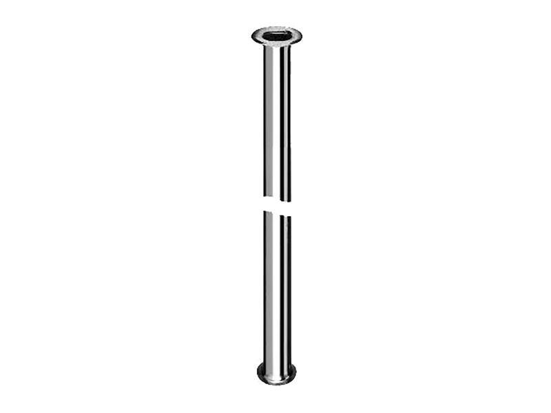 Saninstal tube de vidange à bride 130/3 30cm chrome