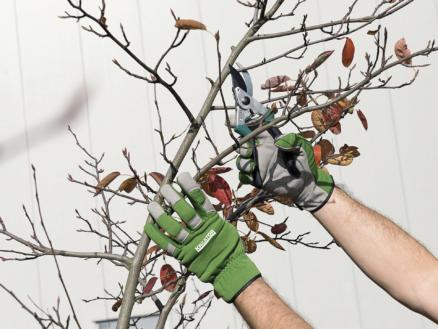 Kreator tuinhandschoenen M kunstleer groen en grijs