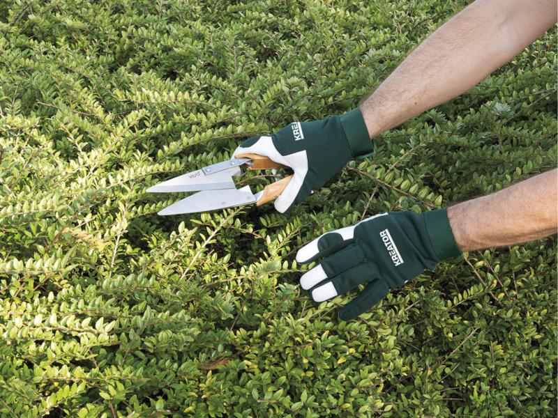 Kreator tuinhandschoenen M/L leer groen