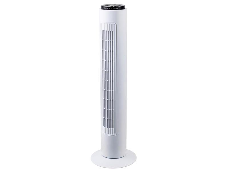 Profile ventilateur colonne 50W 3 vitesses + télécommande